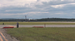 C-5 Galaxy taking off at Red Flag Alaska Stock Footage