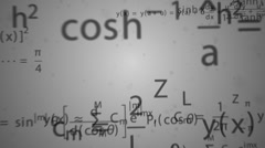 Math formulas flying through the camera. - stock footage