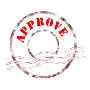 approve - stock illustration