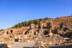 Ancient city of ephesus in turkey Stock Photos