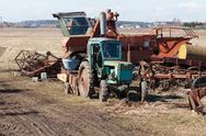 Stock Photo of old agriculture machines