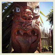 maori carving - stock photo