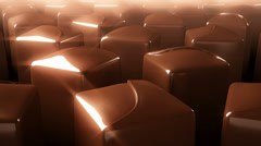 Rotating chocolate candy Stock Footage