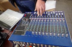 Mixing console Stock Photos