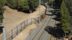 Gold Line Ansaldo Breda P2550 train Stock Footage