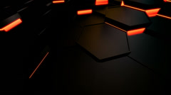 hexagonal motion tile - stock footage