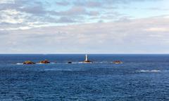 Stock Photo of Longships lighthouse Lands End Cornwall England