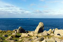 Stock Photo of View from Land`s End Cornwall England UK