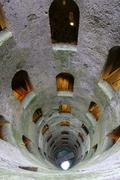 breathtaking view of well of san patrizio in orvieto - stock photo