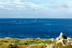 Stock Photo of Cornwall coast at Land`s End England on the Penwith peninsula