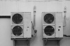 Air condition on black and white Stock Photos