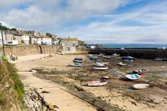 Mousehole Cornwall England Cornish fishing village - stock photo