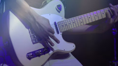 Man playing an Electric guitar HD Stock Footage