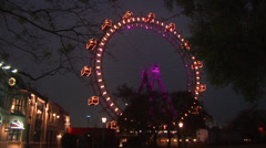 "Stock Video Footage of ""Riesenrad"" giant wheel in the Vienna ""Prater"" amusement park."