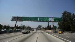 Driving POV Freeway Day02 Los Angeles 10 to 405 USA 60 seconds Stock Footage