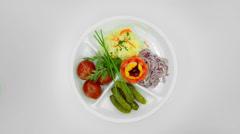 Pickled salad Stock Footage