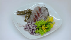 Pickled herring - stock footage