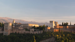 The alhambra granada, andalusia spain Stock Footage