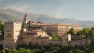 Stock Video Footage of the alhambra granada, andalusia spain
