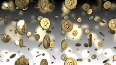 US Dollar Coins Looping Background - stock footage