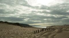 Cadiz beach, protected dunes Stock Footage