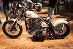Stock Photo of custom motorbike at eicma 2013 in milan, italy