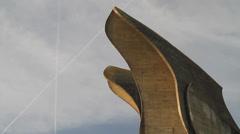 CROATIA Jasenovac concentration camp monument 8 Stock Footage