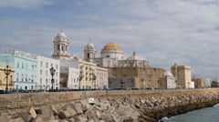 cadiz skyline timelapse andalusia spain - stock footage