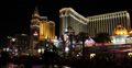 Ultra HD 4K UHD Night Lights Las Vegas Strip Venetian Hotel Crowded Car Traffic 4k or 4k+ Resolution