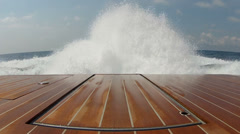 Wash wake of a boat Stock Footage
