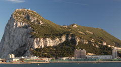 Rock of gibraltar coast spain mediterranean Stock Footage