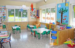 Stock Photo of interior of a playroom a nursery kindergarten school