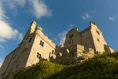 St Michaels Mount Marazion Cornwall England medieval castle and church - stock photo