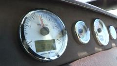 Stock Video Footage of Rev counter on a boat