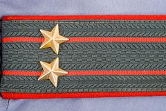 Shoulder strap of russian police Stock Photos