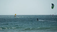 kite surf in tarifa, andalusia spain - stock footage
