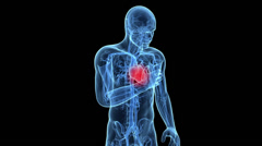 A man having a heart attack Stock Footage