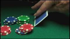 Blackjack, pontoon, twenty one,luck, jm0271 Stock Footage