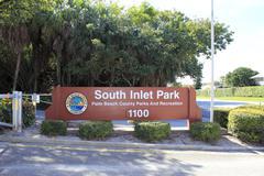 South inlet park sign Stock Photos