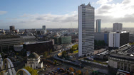 Stock Video Footage of Birmingham city centre skyline.