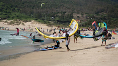 Kite surf in tarifa, andalusia spain Stock Footage