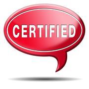 Certified Stock Illustration
