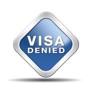 Visa denied Stock Illustration