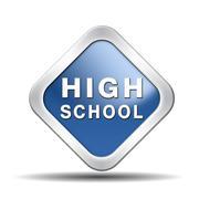 high school - stock illustration