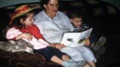 Vintage home movies, grandma and gun Stock Footage