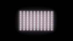 Floodlights with Audio, Closeup Stock Footage