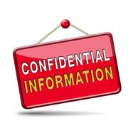 confidential information - stock illustration