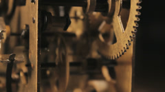 Clockwork Mechanism ticking, Closeup - stock footage