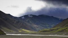 Clouds over Landmannalaugar Stock Footage