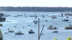 Boats docked in Maine Stock Footage